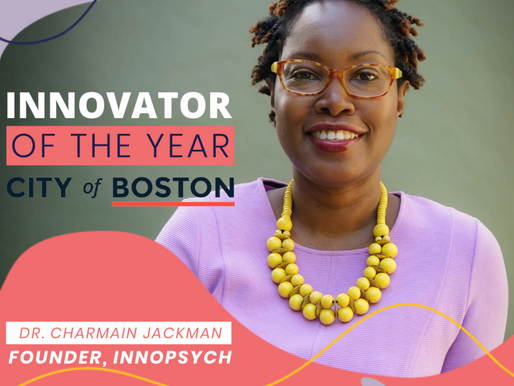 Dr. Jackman's Remarks for Boston Innovator of the Year Award