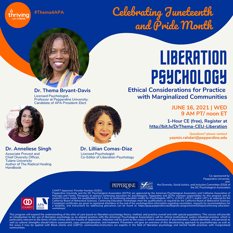 Liberation Psychology: Ethical Considerations for Practice