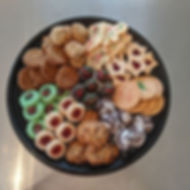 Our first cookie tray of the season, hea