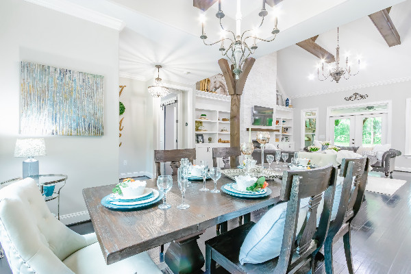 interior Designer Michelle Fleischhacker of Room Service Interiors in Cochrane, Alberta demonstrates how to choose the right sized chandelier or light fixture in your home.