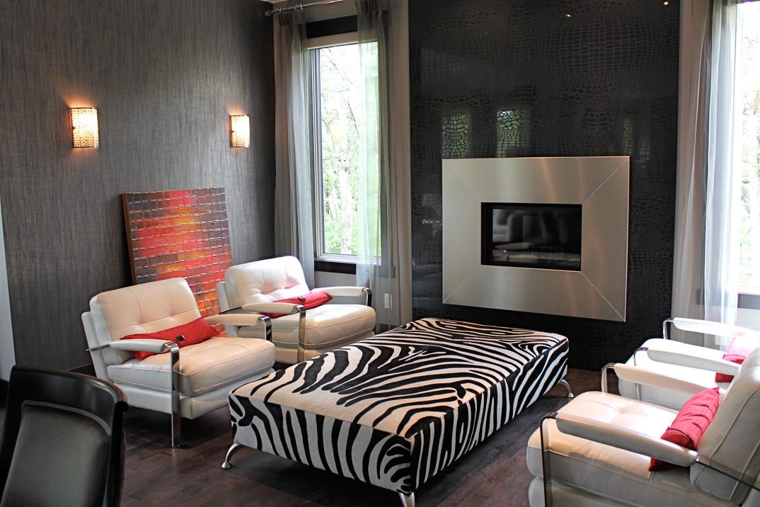 Custom Ottoman and Throw Pillows, Room Service Interiors, A Boutique Design Studio