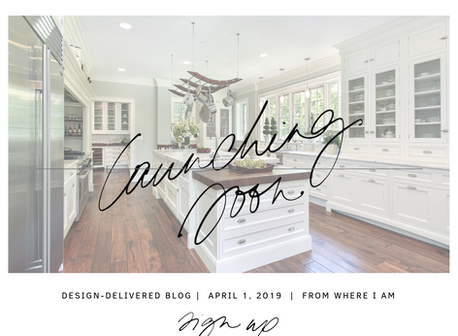 Blog Launch April 1, 2019