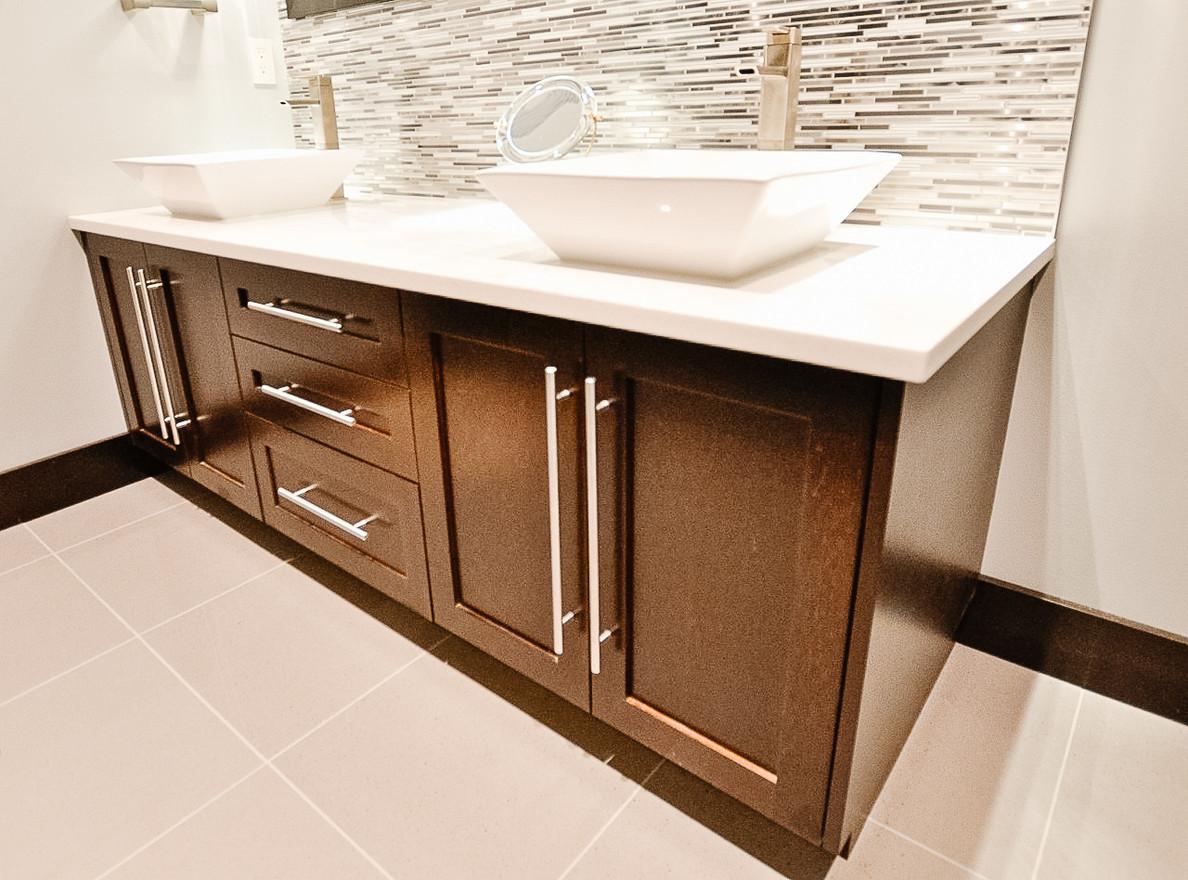 Bearspaw Ridge Basement Guest Bath, Room Service Interiors, A Boutique Design Studio
