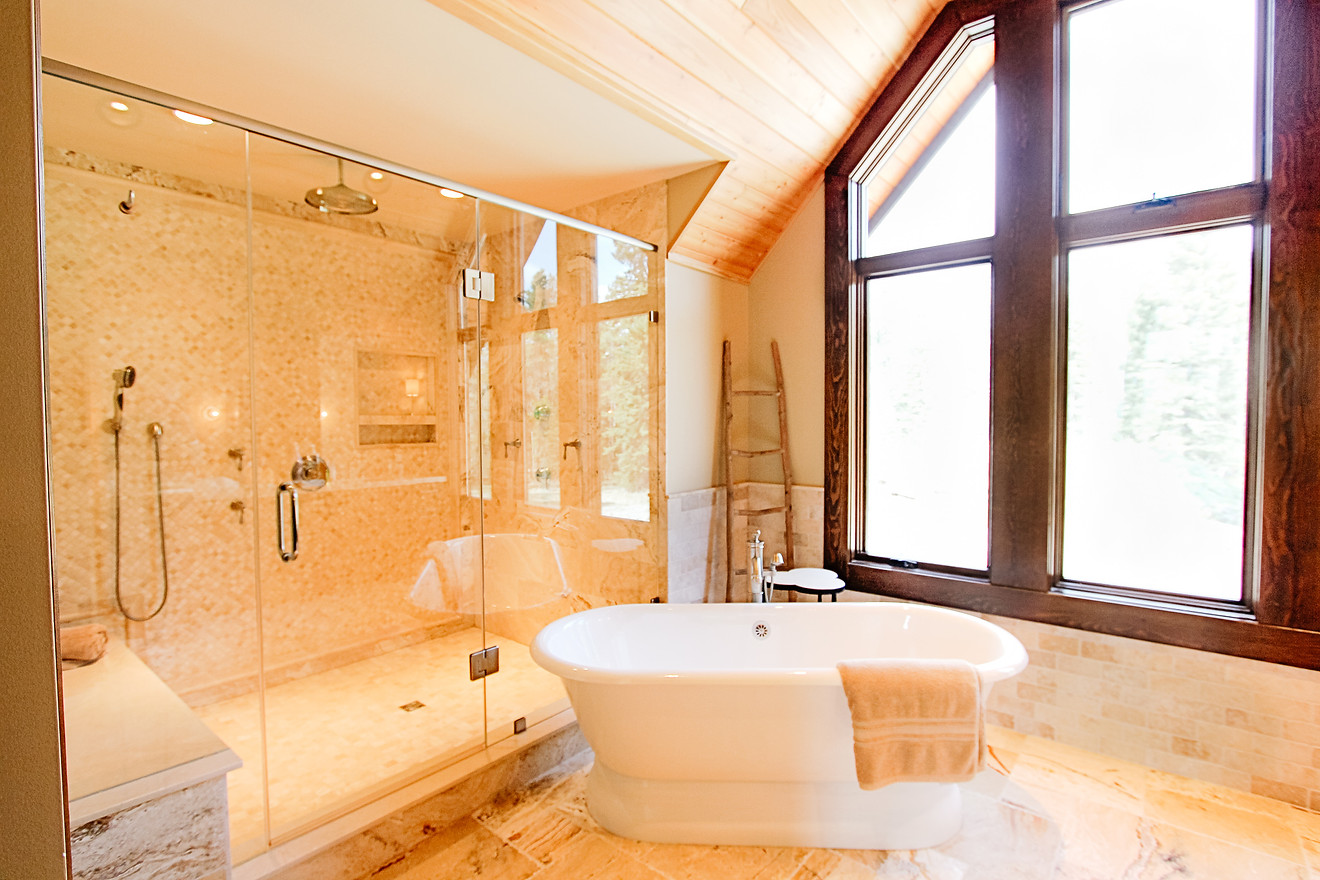 Priddis Log Home Master Bath
