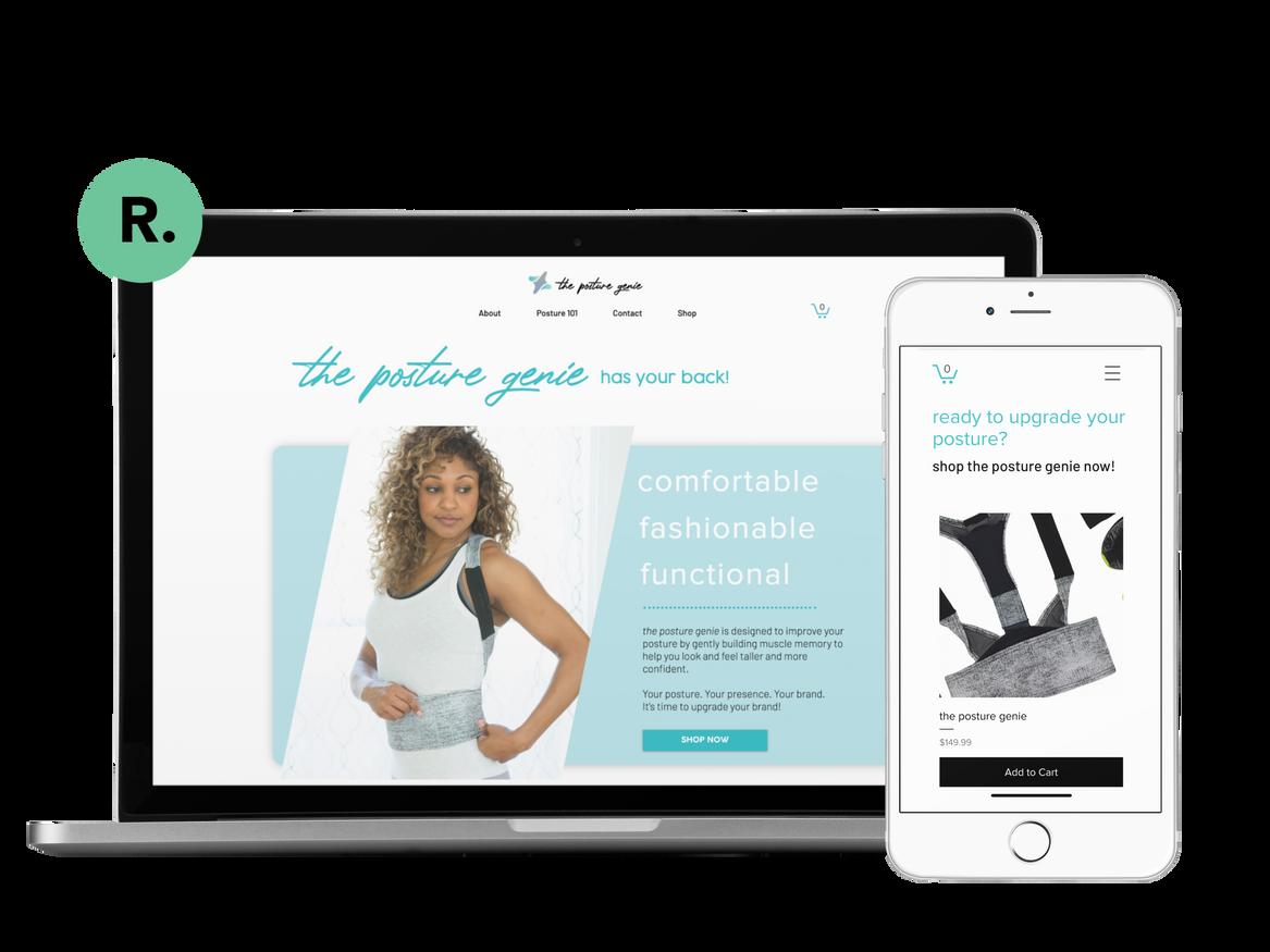 The Posture Genie Website