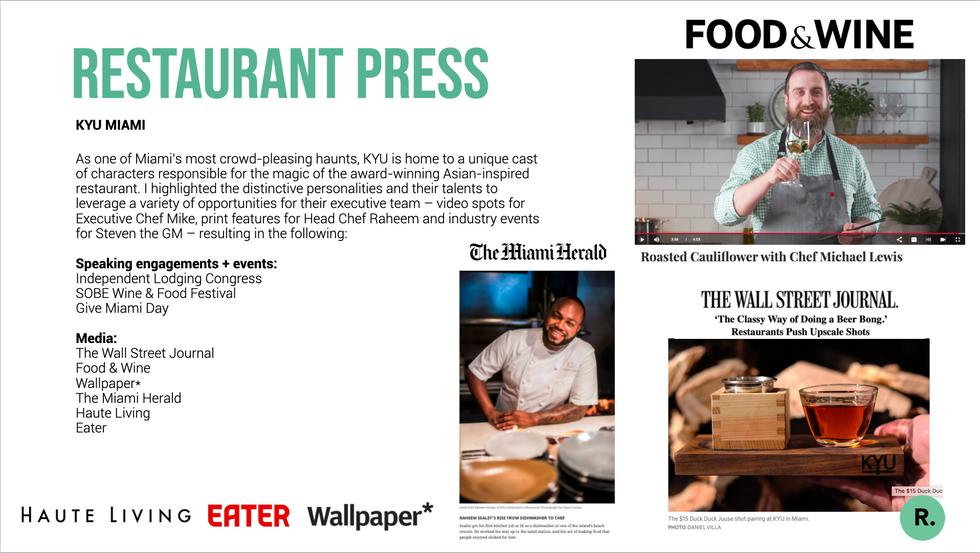 Restaurant + Chef Press