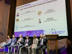 The panel of ambitious space tech innovators at the GSTC 2018 in Singapore.