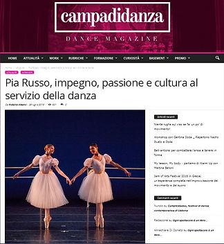 Campididanza.com intervista Pia Russo