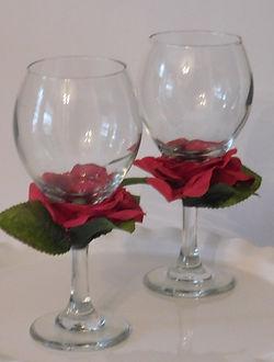 Floral wine glass__Custom