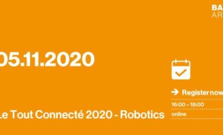 Pitch an Online-Veranstaltung Le Tout Connecté 2020:Robotik, ein Faktor für die Wettbewerbsfähigkeit