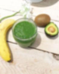 Smoothie vert epinard pomme lait amande sans lactose