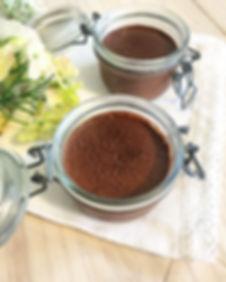Crème au chocolat et noix de coco sans sucre sans lactose sans farine sans gluten léger healthy vegan sans oeufs