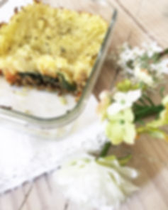 hachis parmentier boeuf haché légumes sans lactose sans gluten courgete carottes