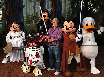 George Lucas and Disney Characters ramblr