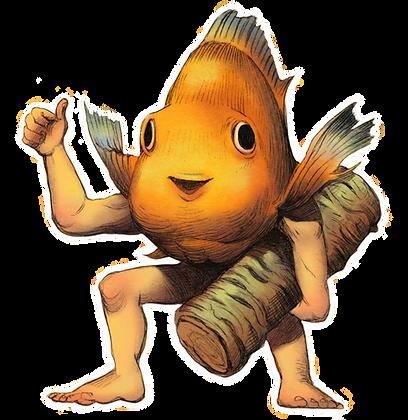Merms of May: Papaya Sticker