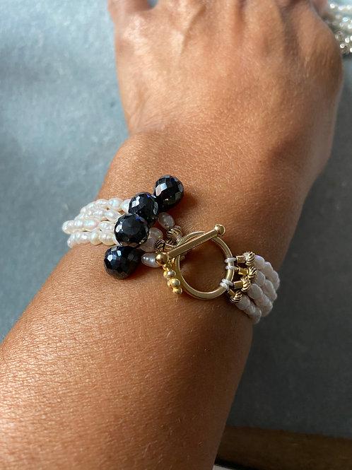 Cultured Pearl & Sapphire Bracelet