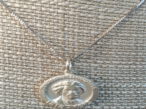 Frederick Douglass Silver Necklace