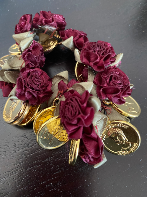 Phyllis Wheatley Silk Rose Bracelet