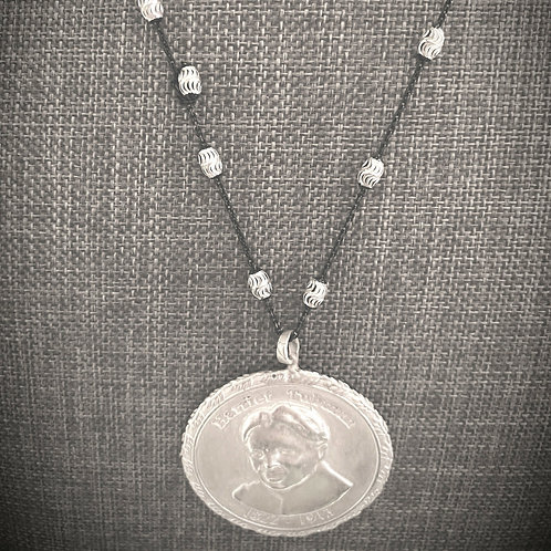 Harriet Tubman White Medallion Necklace