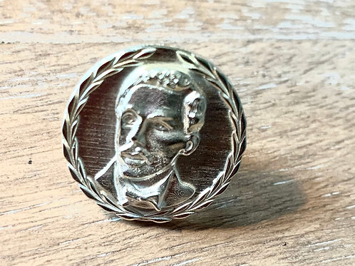 Octavius Catto Sterling Silver Lapel Pin