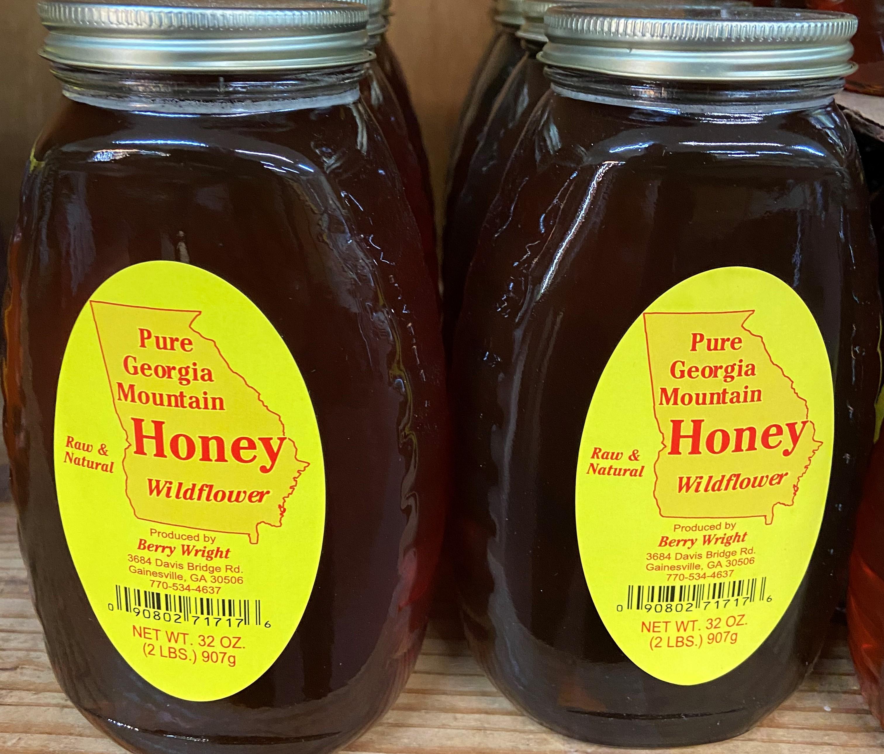 wildflower honey 2lb jar