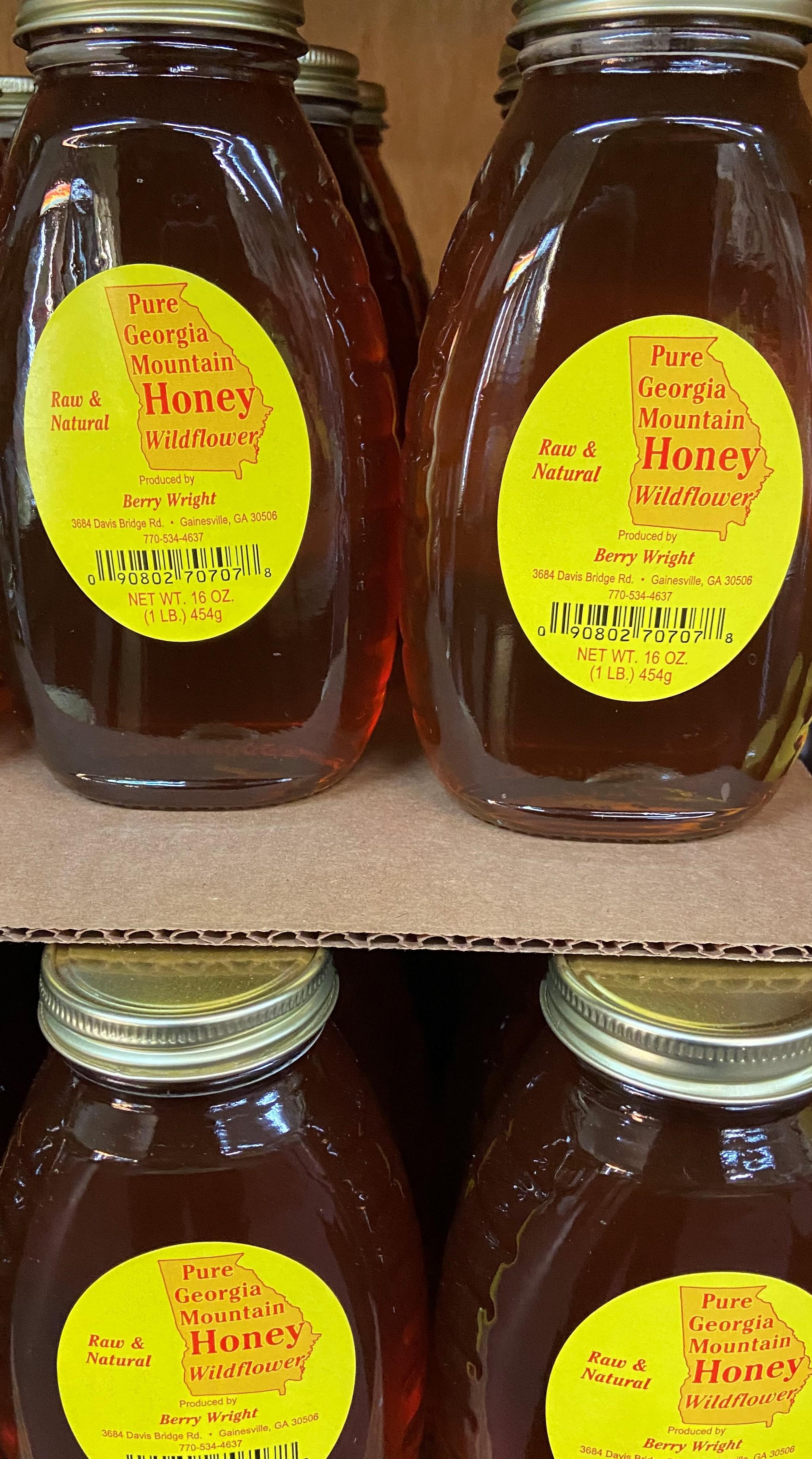 wildflower honey 1lb jar