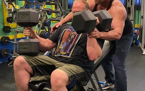 Paul Falkowski 120 lbs incline bench press