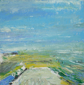 Above the Sea -Blue and Yellow 12 x 12in.JPG