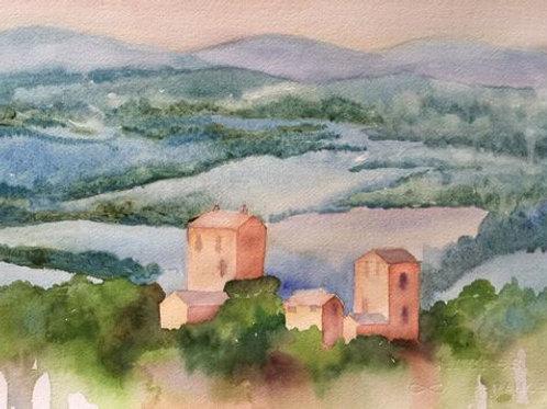 Blue Tuscan Hills