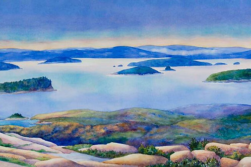 Sunrise, Acadia National Park Giclee Print on Canvas
