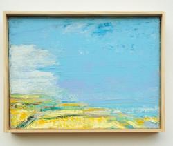 Yellow Horizon, 9 x 12in, acrylic