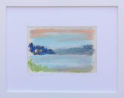 Edge of Palos Verdes, Pastel on Paper, 11x14in