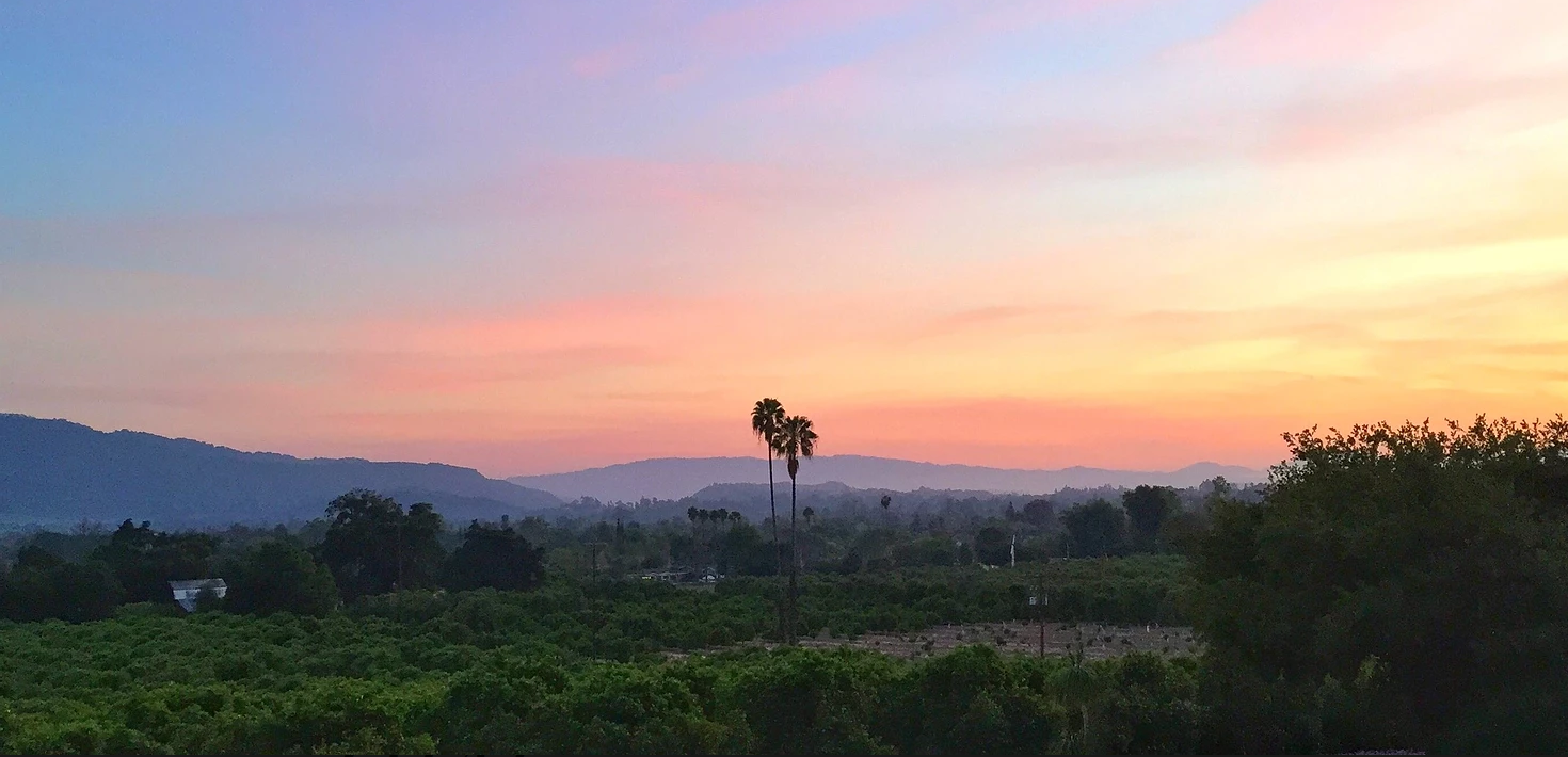 View of the ojai valley from the house.