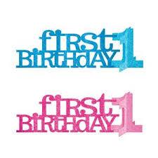 First Birthday Glitter Table Decoration