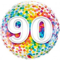 Age 90 Rainbow Confetti Foil.jpg