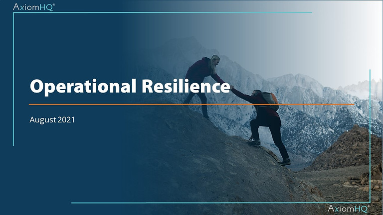 Operational Resilience: Outsourcing & Third Parties