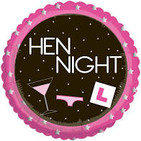 G Hen Night Std Foil L Plate and Cocktai