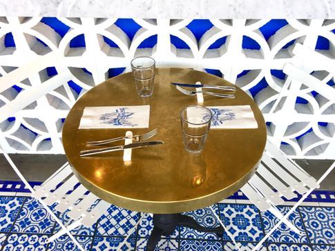 4 Inch White Grecian Marble Flatware Rest