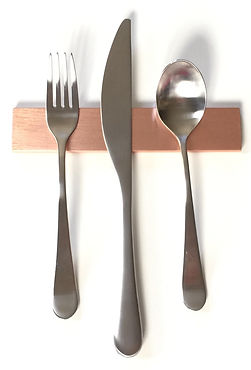 Copper Modern Flatware Rest