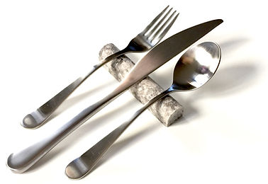 Travertine Modern Flatware Rest