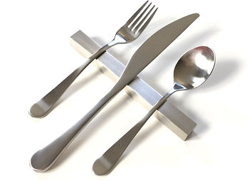 Stainless Steel Modern Flatware Rest