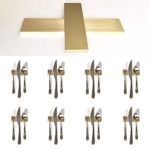 Set of 8 — 4 Inch Solid Brass Low Profile Uplifts — Over 1/3 lbs. Each