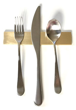 Solid Brass Modern Flatware Rests