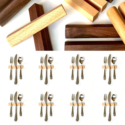 Set of 8 — 4 Inch Beech Hardwood Triangle Uplifts
