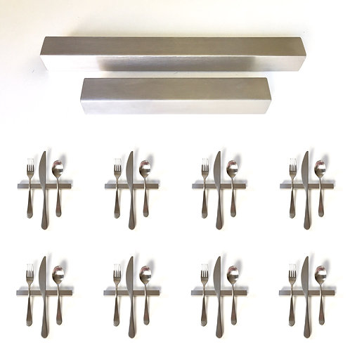 Set of 8 — 6 Inch Solid Stainless Steel Square Uplifts — Over 1/2 lbs. Each