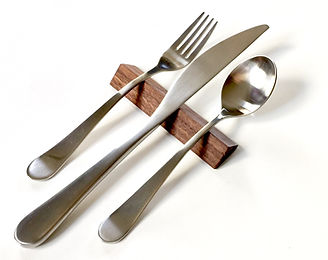 Walnut Hardwood Modern Flatware Rest