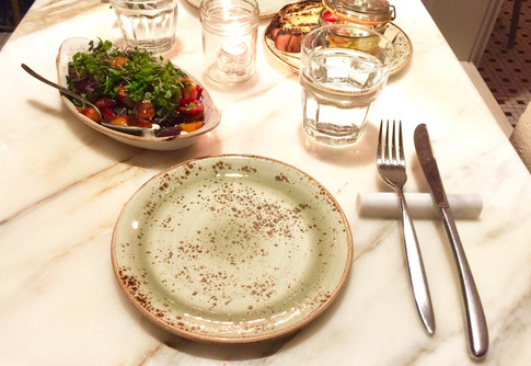 """Carrara Marble 4"""" Rounded Flatware Rest"""