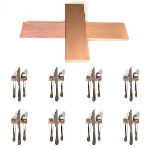 Set of 8 — 4 Inch Solid Copper Low Profile Uplifts — Over 1/3 lbs. Each