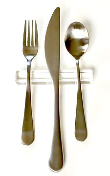 Clear Acrylic Modern Flatware Rest