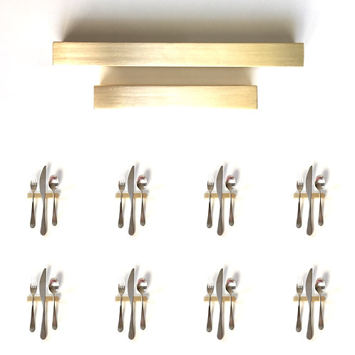 Set of 8 — 4 Inch Solid Brass Square Bar Uplifts — Over 1/3 lbs. Each